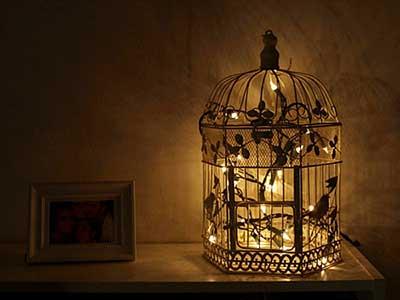 Imagens de decoração com gaiolas