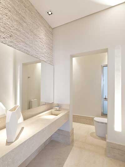 30 Luminárias para Banheiros Espelho, Pendentes, Fotos -> Iluminacao Para Pia De Banheiro