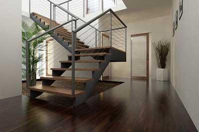 imagem de escada de ferro