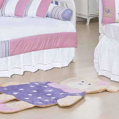 modelos de tapetes para quartos de bebê
