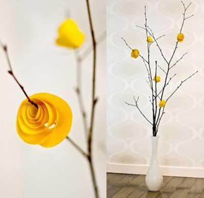 fotos de decoração com galhos secos