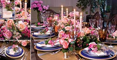imagens de decoração de mesas
