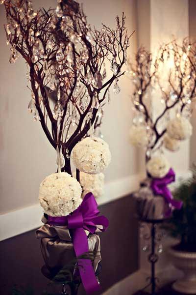 dicas de decoração com galhos secos
