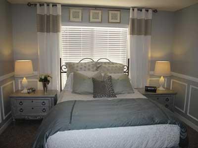 quartos decorados com cortinas