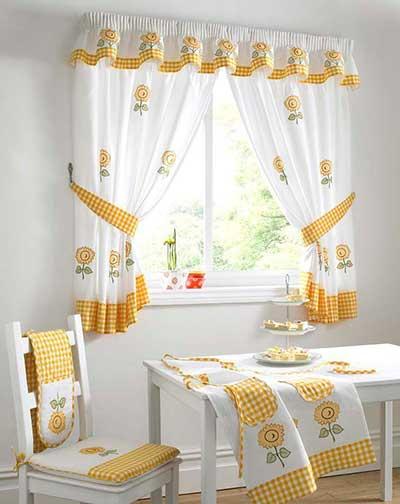 cortinas decorativas para cozinha
