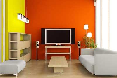paredes laranjas