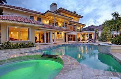 Casas luxuosas de luxo fotos imagens decora o for Casas con piscina interior fotos