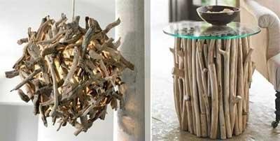 imagens de decoração com galhos secos