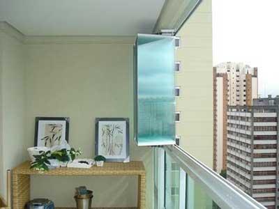 cortina feita de vidro