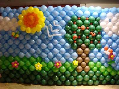 fotos de festa com balões