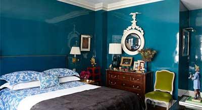 Dicas e modelos de paredes azuis no quarto sala casa etc for Paredes azul turquesa