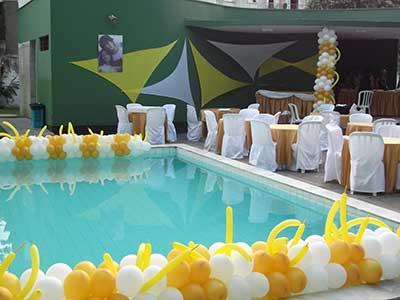 como decorar festa com bolas