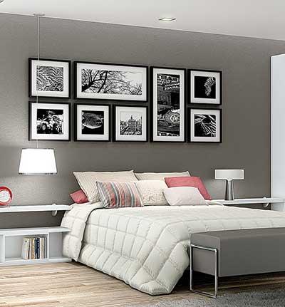 30 quadros para decorar quarto de casal ideias e modelos for Quadros dormitorio
