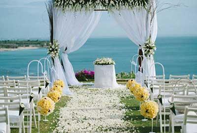 decoraçao de casamento na praia flores