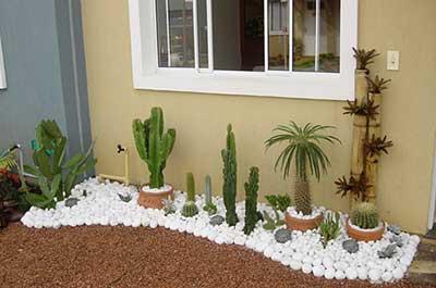 jardim com pedras decorados