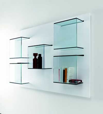 modelos de prateleiras de vidro