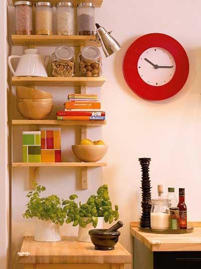 imagens de prateleiras para cozinha