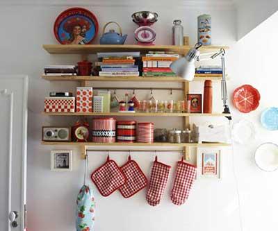 fotos de prateleiras para cozinha