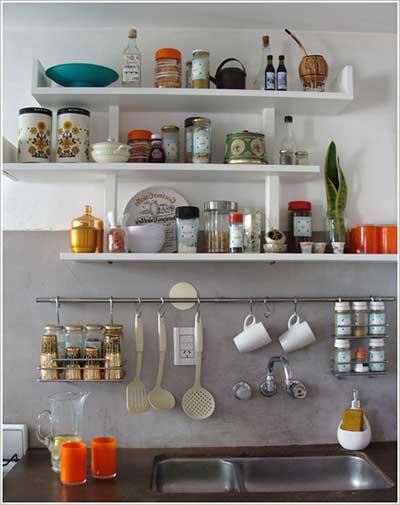 dicas de prateleiras para cozinha