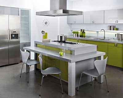 mesas para cozinhas
