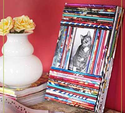 fotos de artesanato com jornal