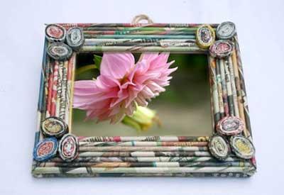 imagens de artesanato com jornal