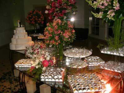 casamento Mesa de bolo doces