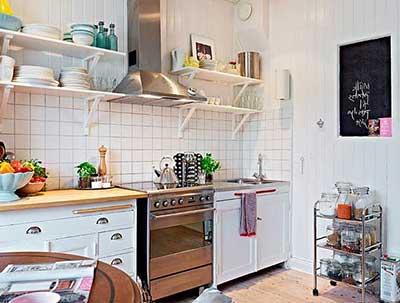 foto de prateleira para cozinha