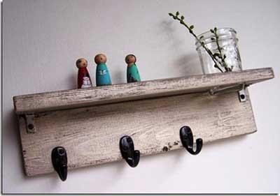 imagens de prateleiras de madeira