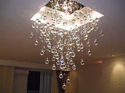 40 lustres de cristal para sala quarto casa apartamento for Sala de estar futurista