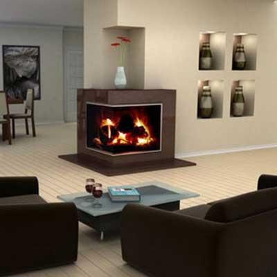 Modelos de lareiras de canto a lenha ferro modernas fotos for Casa moderna black walnut luxury vinyl plank