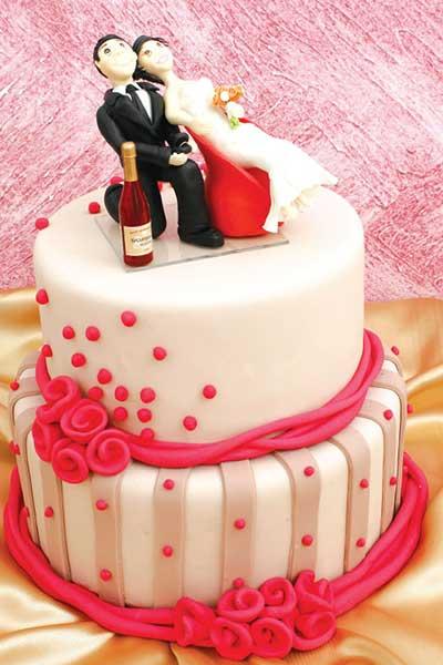 bolos de casamento mais simples