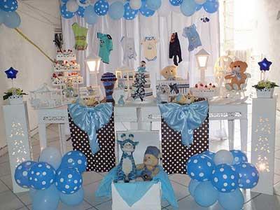 fotos de chás de bebê decorados