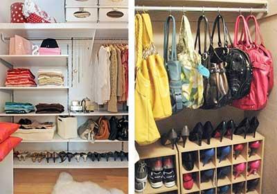 Organizar prateleiras guarda roupa