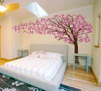 como decorar parede com adesivo