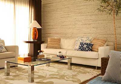 100 fotos de salas decoradas ideias dicas imagens for Sala de estar com papel de parede 3d