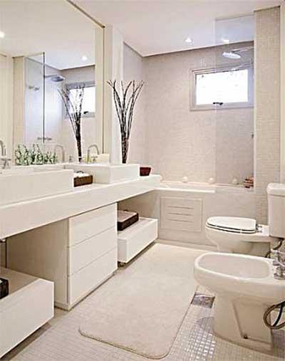 Banheiros Decorados 2016 Fotos, Dicas, Imagens, Inspiração -> Banheiro Feminino Moderno