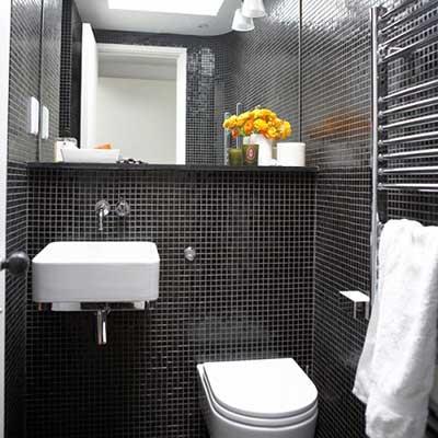 #474474 Banheiros Decorados 2016 Fotos Dicas Imagens Inspiração 400x400 px Banheiro Simples Preto E Branco 2018 3799