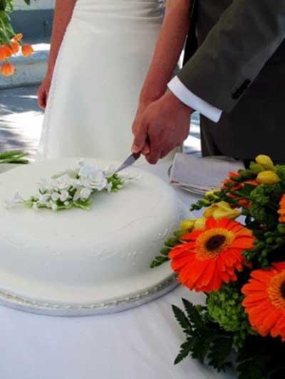 dica de bolo decorado de casamento