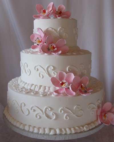 fotos de bolos de casamento mais simples