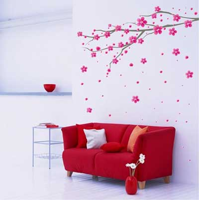 Como decorar paredes com adesivos fotos e dicas - Imagenes para decorar paredes ...