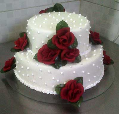 foto de bolo simples de casamento