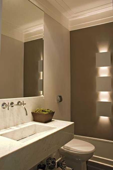 30 Lavabos Decorados Fotos, Decoração, Ideias, Dicas -> Banheiros Sociais Modernos