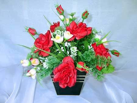 com rosas