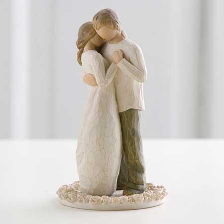 Decoração de topo de bolo de casamento