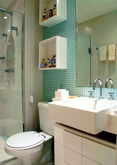 Banheiros Decorados 2016 Fotos, Dicas, Imagens, Inspiração -> Banheiro Pequeno Decorado Rosa
