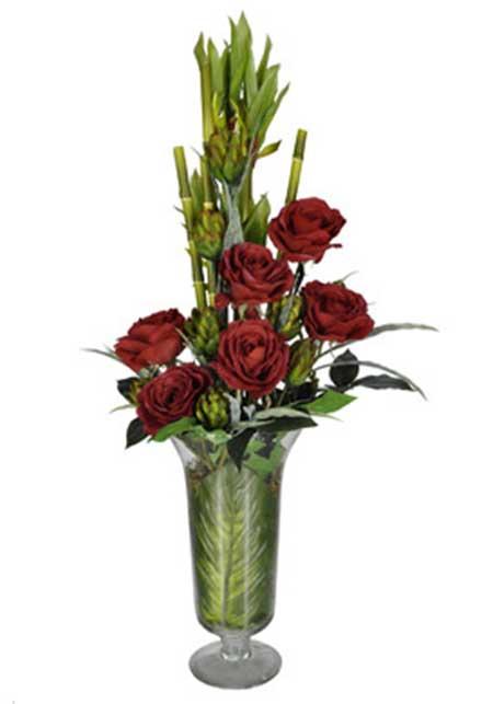 imagens de arranjo de flor artificial