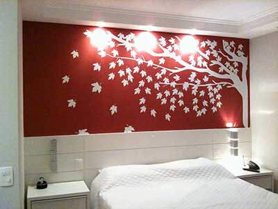 paredes com adesivo