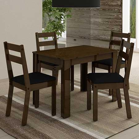dicas de mesa com quatro cadeiras