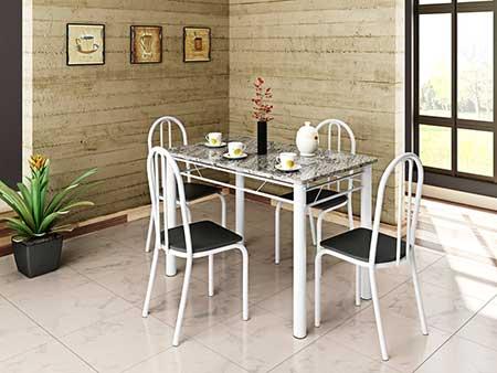fotos de mesa com quatro cadeiras
